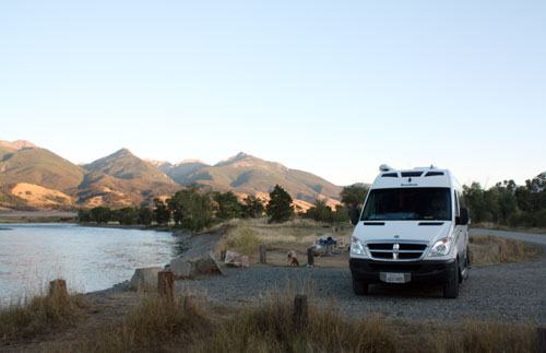 Camping on the Yellowstone River, Mallard's Rest